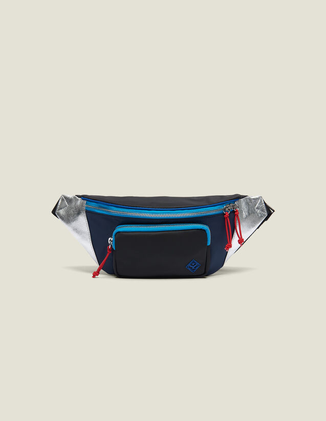 Fanny Pack In A Blend Of Materials : Bags color Black