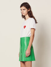 Neon Leather Skirt : Skirts color Green
