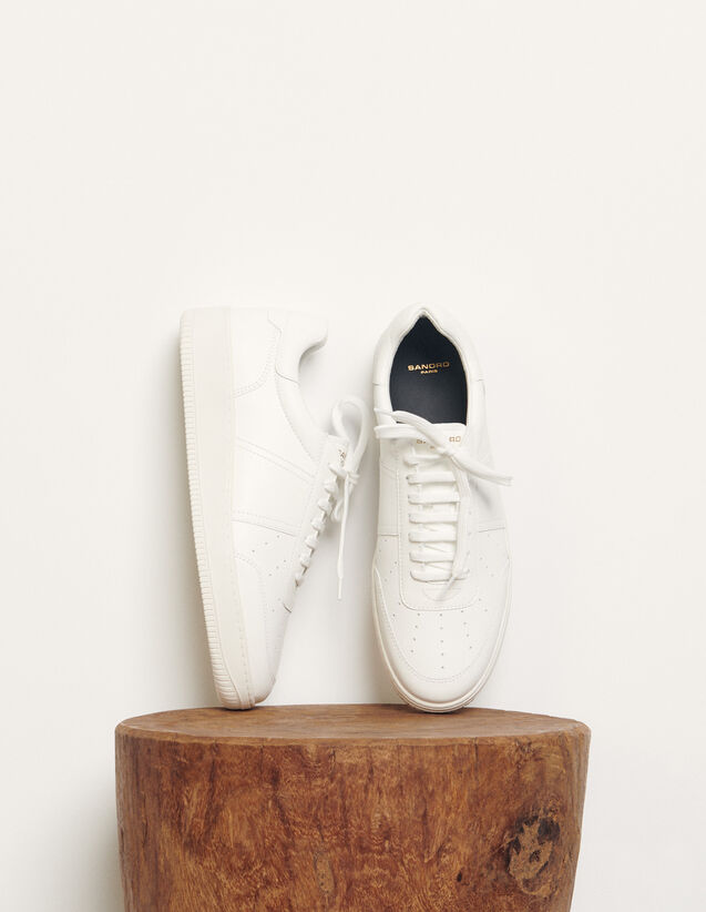 Sandro Plain leather sneakers