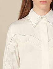 Shirt With Western Details : Tops & Shirts color Ecru