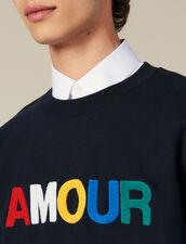 Slogan Sweatshirt In Unbrushed Fleece : Sweatshirts color white