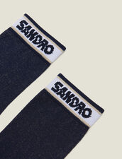 Lurex Socks With Sandro Logo : Sale color Navy Blue