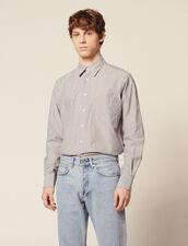 Formal Striped Cotton Shirt : Shirts color White/Blue