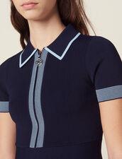 Knit Polo Dress : Dresses color Navy Blue