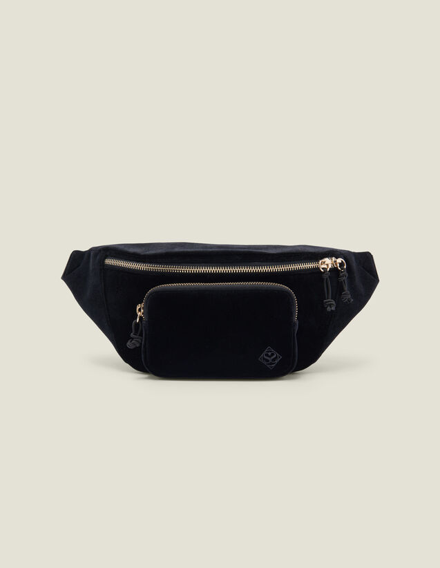 Velvet Fanny Pack : New Collection color Black