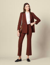 Flared tailored pants : Pants & Shorts color Tobacco Brown