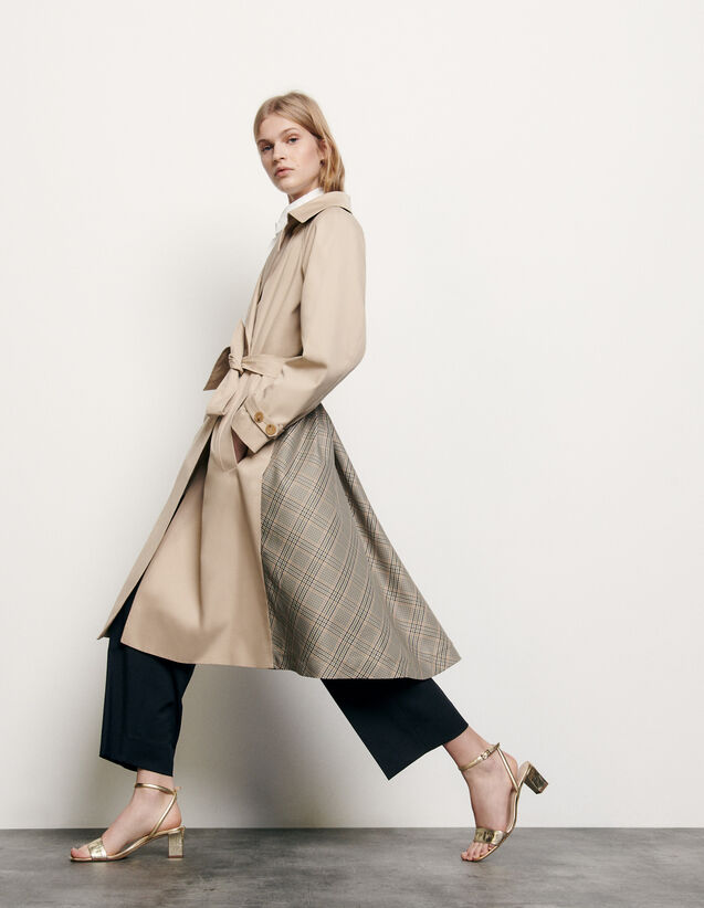 Trenchcoat with insert at the back : Spring Pre-Collection color Beige