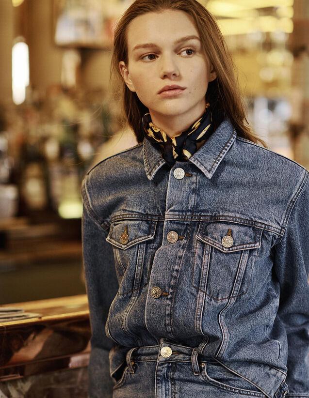 fab504fe0 Masculine Fit Denim Jacket : Jackets color Blue Vintage - Denim