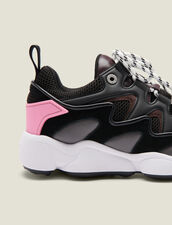 Sneakers In Mixed Materials : Shoes color Black