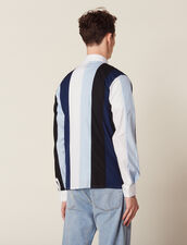 Shirt With Multicolored Stripes : Shirts color Blue