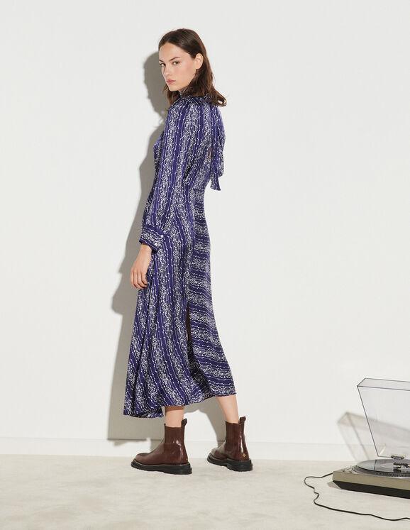 Sandro Long Printed Dress