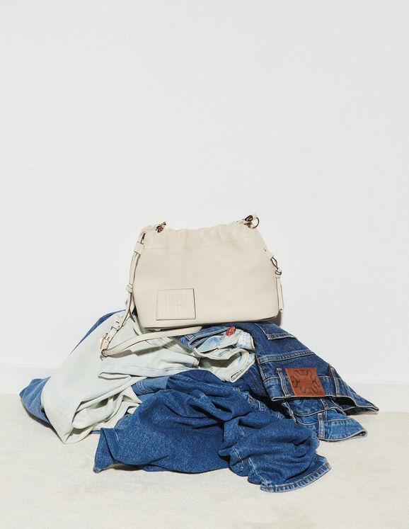 Sandro Grained leather bucket bag