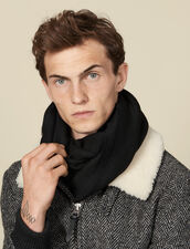 Two-tone reversible scarf : Scarves & Gloves color Black