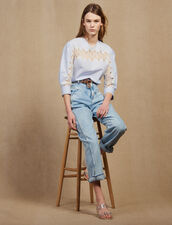 Long-Sleeved Poplin Top : Tops & Shirts color Blue