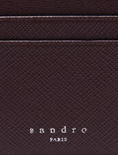 Leather card holder : Spring Pre-Collection color Bordeaux