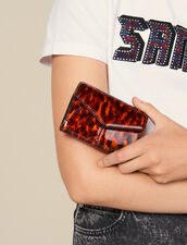 Printed Patent Leather Wallet : Small Leather Goods color Orange leopard