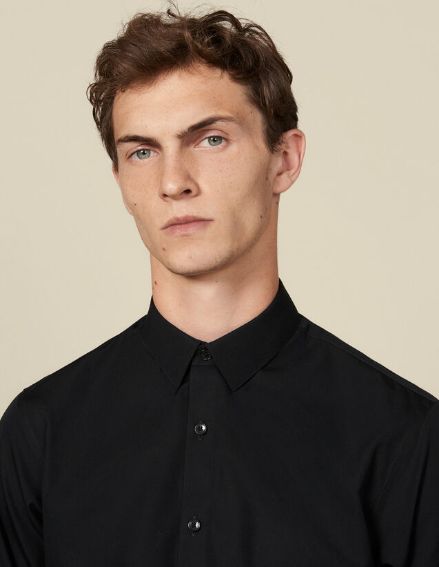 Non-iron shirt : Shirts color Black