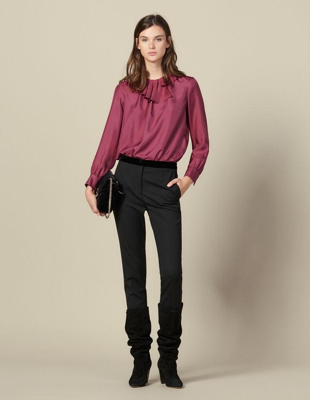 Straight-cut suit pants : Pants & Shorts color Black