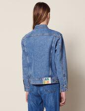 Masculine Fit Denim Jacket : Coats & Jackets color Blue Vintage - Denim