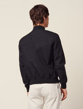 Cotton Bomber Jacket : Coats & Jackets color Navy Blue