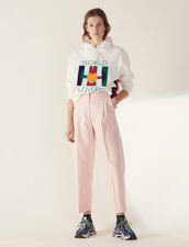 Matching 7/8-Length Tailored Pants : Pants & Shorts color Pink