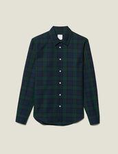 Tartan shirt : Shirts color Dark green