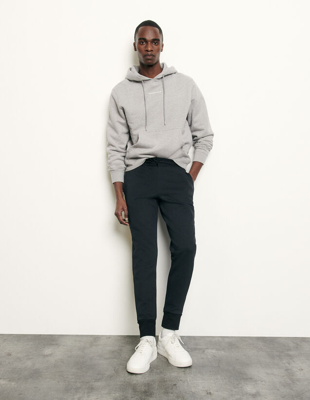 Technical fabric jogging bottoms : Spring Pre-Collection color Black
