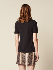 T-Shirt With Block Motif : Tops & Shirts color Black