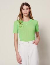 Fluorescent Knit T-Shirt : Sweaters color Vert fluo