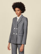 Flannel tailored jacket : Jackets color Grey