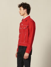 Denim Canvas Jacket : Jackets color Black