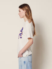 T-Shirt With Cut-Outs On The Shoulders : Tops & Shirts color white