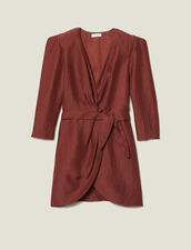 Short Wraparound Dress : Dresses color Wine