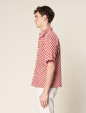 Checkerboard Shirt In Japanese Fabric : Shirts color Black