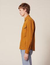 Cotton Fabric Shirt : Shirts color Ochre