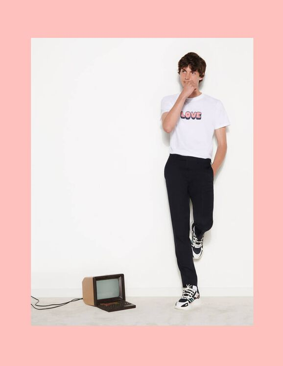 Sandro T-shirt with embroidered lettering