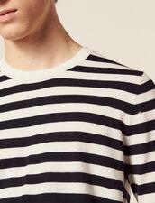 Breton Sweater In Cotton And Cashmere : Sweaters color Ecru