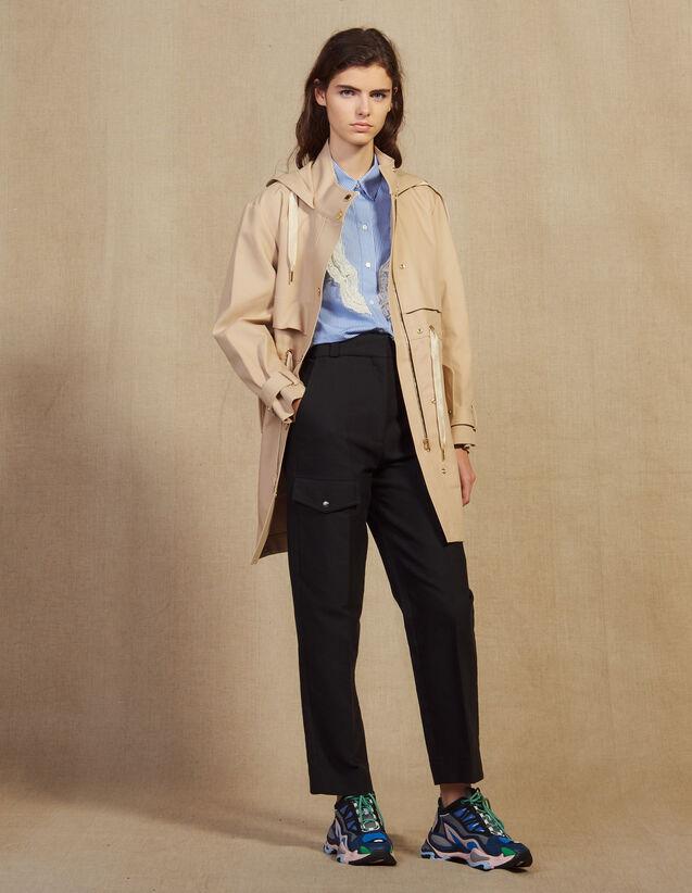 Cotton Parka : Coats color Beige
