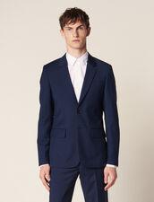Mohair Wool Suit Jacket : Suits & Blazers color Blue