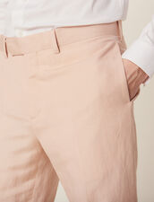 Linen Blend Suit Pants : Suits & Blazers color Light pink