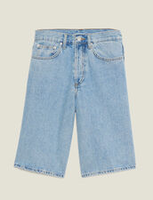 Denim Bermuda Shorts : Pants & Jeans color Blue Vintage - Denim