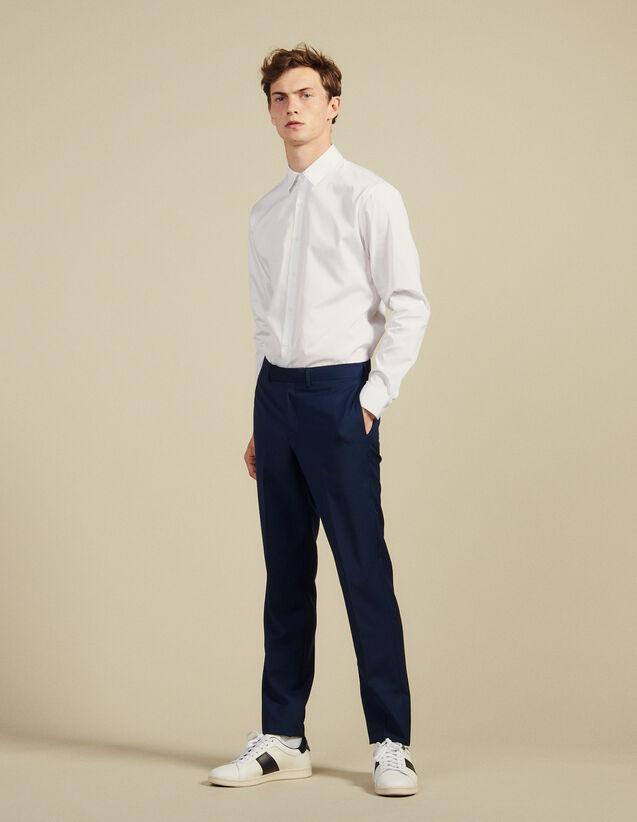 Mohair Wool Suit Pants : Suits & Blazers color Blue