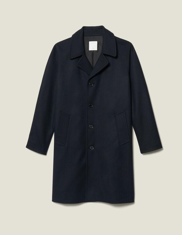 Oversized Town Coat : Coats color Navy Blue