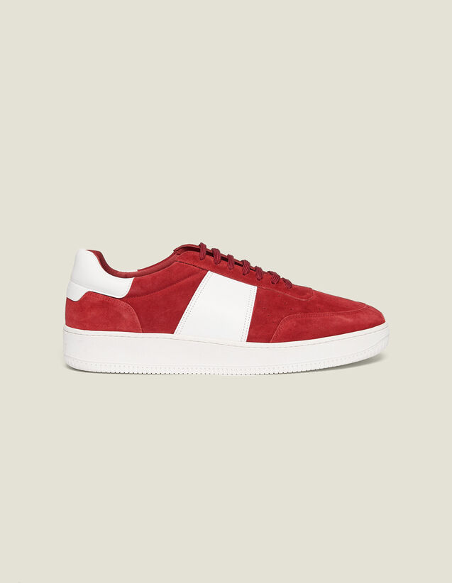 Leather Sneakers : Shoes color Red