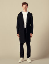Double-sided wool parka : Coats color Black