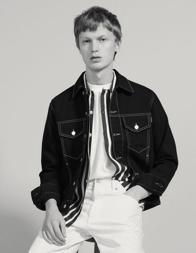 Denim Canvas Jacket : Coats & Jackets color Black