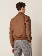 Cotton Bomber Jacket : Coats & Jackets color Navy Blue