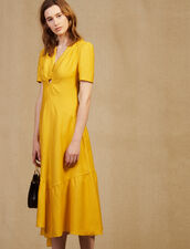 Midi Dress With Ring Detail : Dresses color Yellow