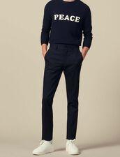 Slim-Fit Stretch Suit Pants : Pants color Navy Blue