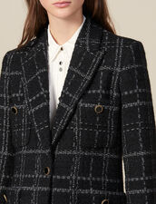 Tweed tailored jacket : Jackets color Black